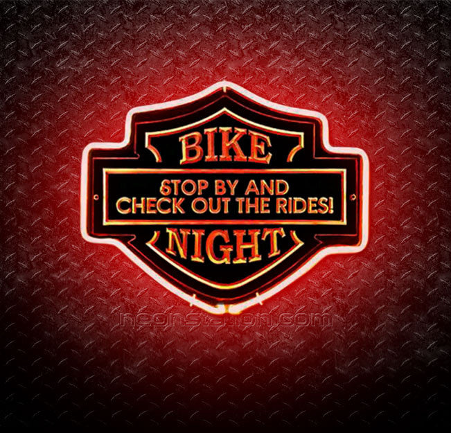 Bike Night Stop By 3D Neon Sign