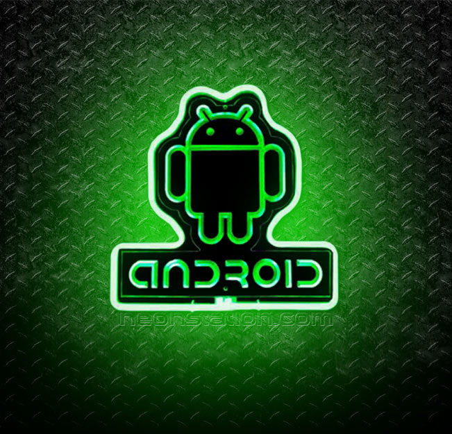 Android 3D Neon Sign
