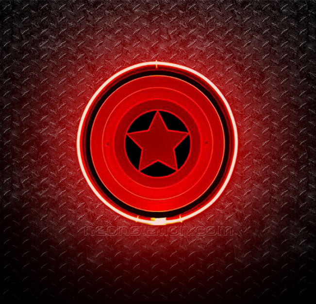 Captain America's Shield 3D Neon Sign