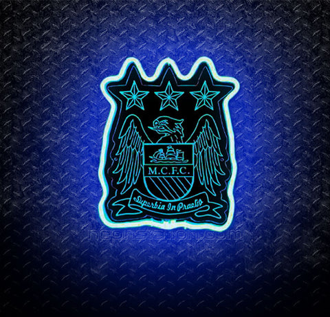 Manchester City FC 3D Neon Sign