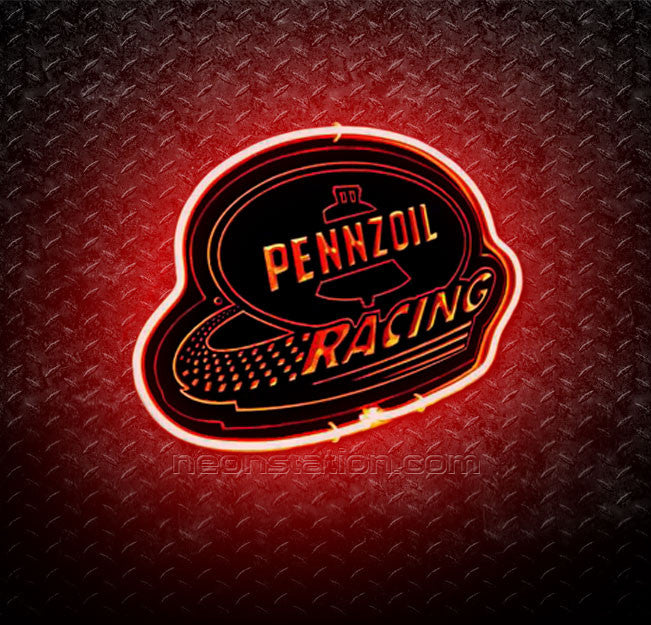 Pennzoil Racing 3D Neon Sign