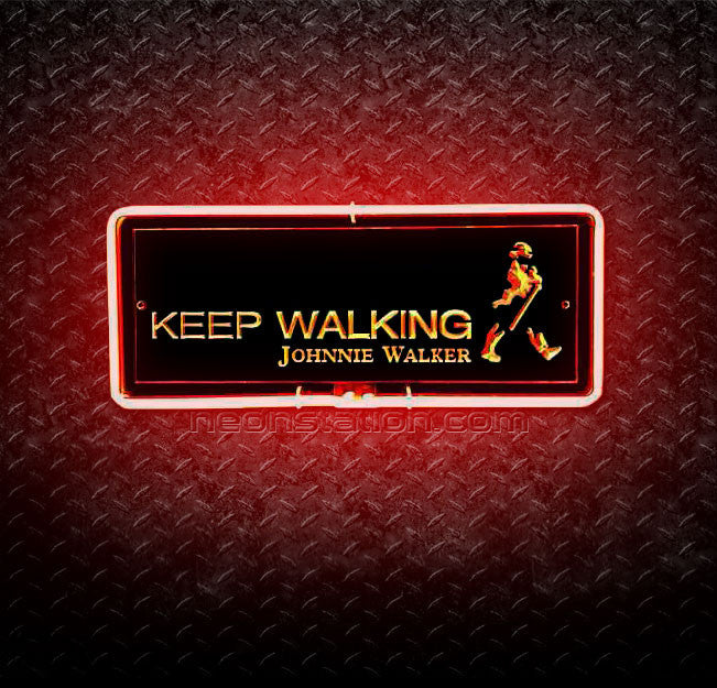 Johnnie Walker Keep Walking 3D Neon Sign
