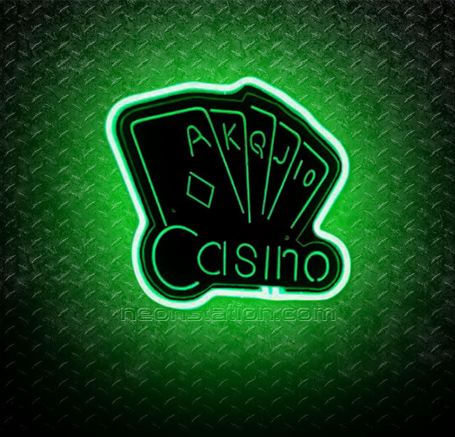 Casino Poker Game 3D Neon Sign