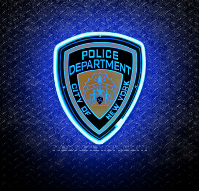NYPD New York Police Department 3D Neon Sign