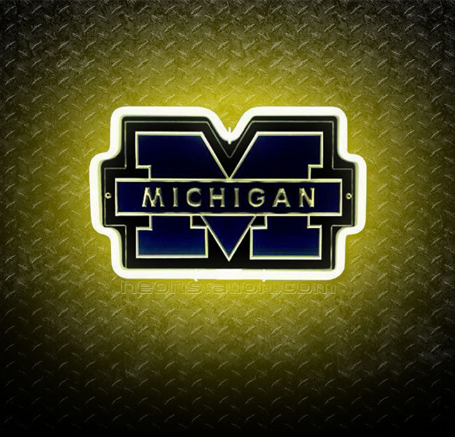 NCAA Michigan Wolverines 3D Neon Sign