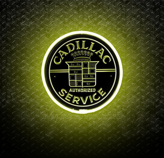 Cadillac Authorized Service 3D Neon Sign
