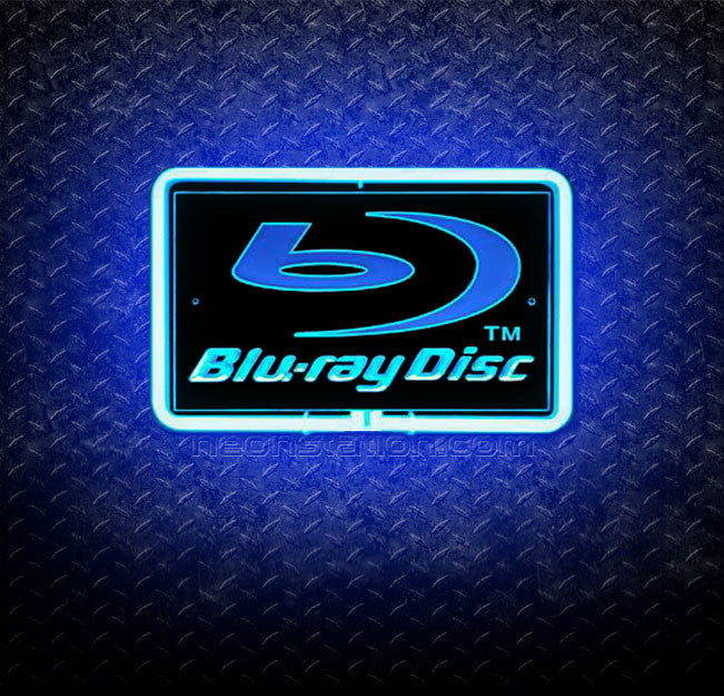 Blu-Ray Disc 3D Neon Sign