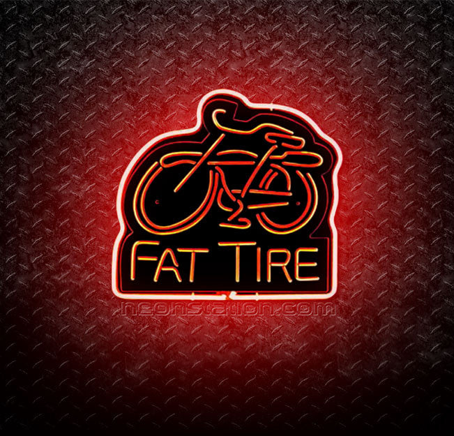 Fat Tire Bicycle 3D Neon Sign