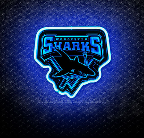 AHL Worcester Sharks 3D Neon Sign