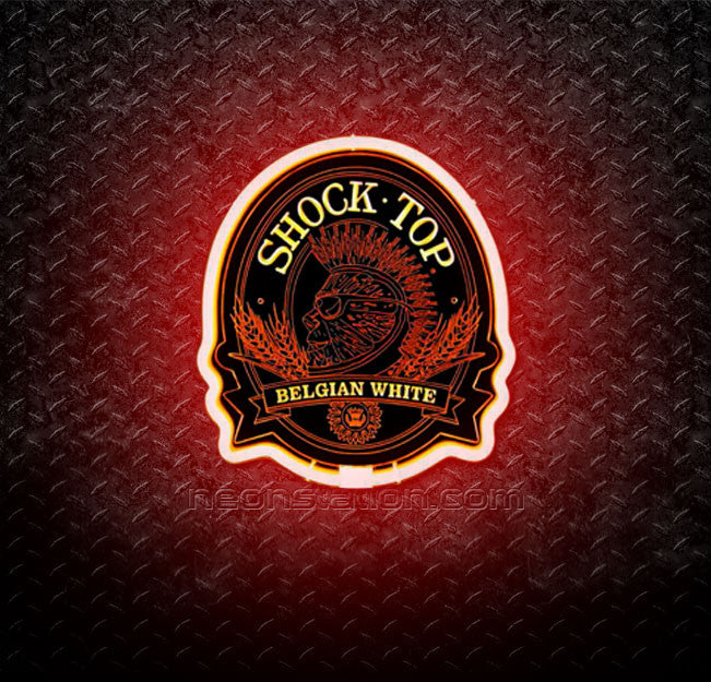 Shock Top Belgian White 3D Neon Sign