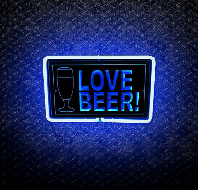 I Love Beer! 3D Neon Sign