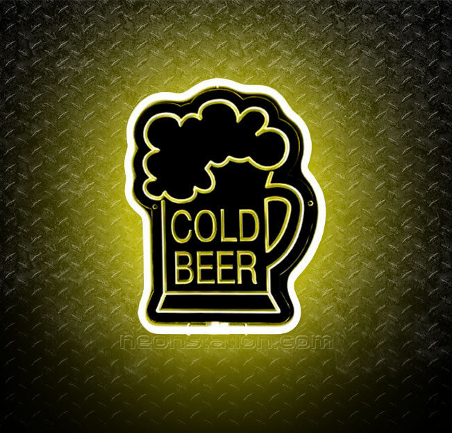 Cold Beer 3D Neon Sign