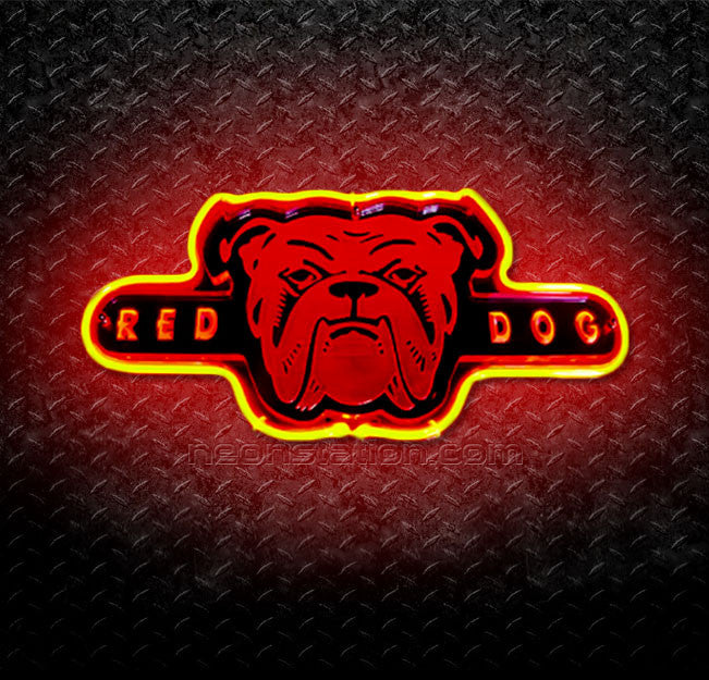 Red Dog Head 3D Neon Sign