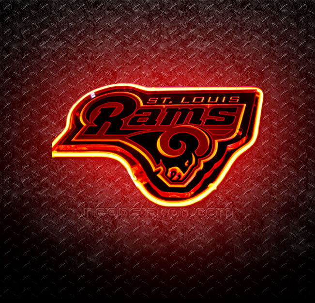 NFL St Louis Rams 3D Neon Sign