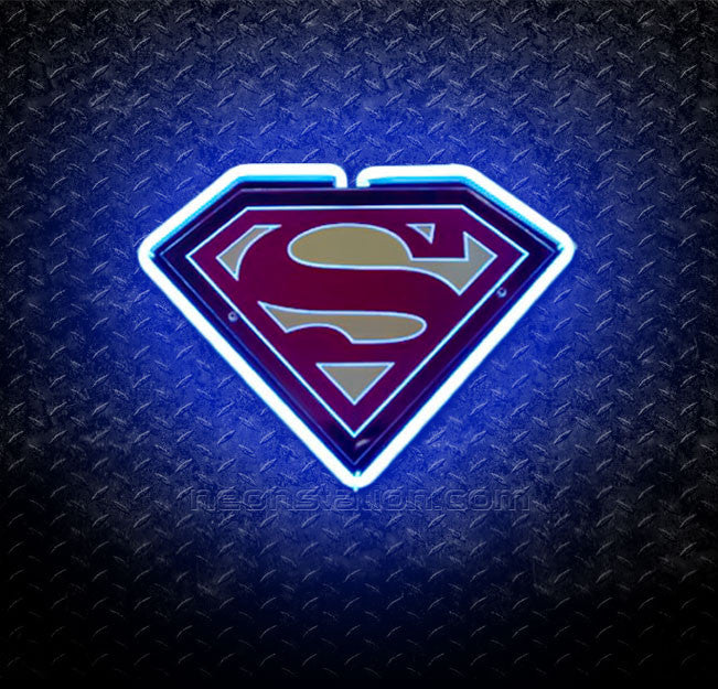Superman 3D Neon Sign