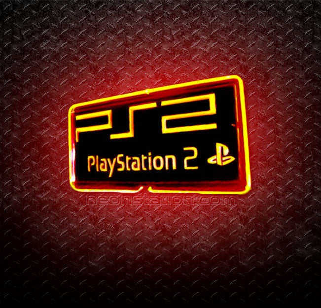 PlayStation 2 PS2 3D Neon Sign