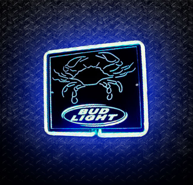Bud Light Crab 3D Neon Sign