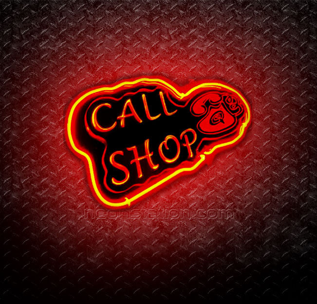 Call Shop 3D Neon Sign