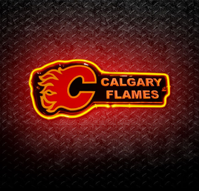NHL Calgary Flames 3D Neon Sign