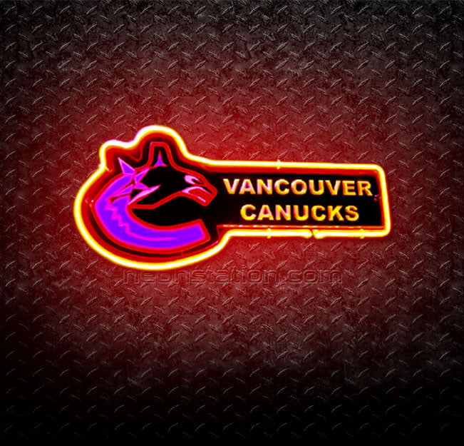 NHL Vancouver Canucks 3D Neon Sign