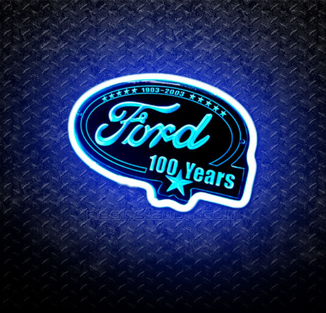 Ford 100 Years 1903-2003 3D Neon Sign