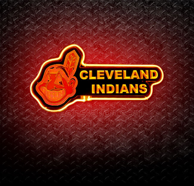 MLB Cleveland Indians 3D Neon Sign