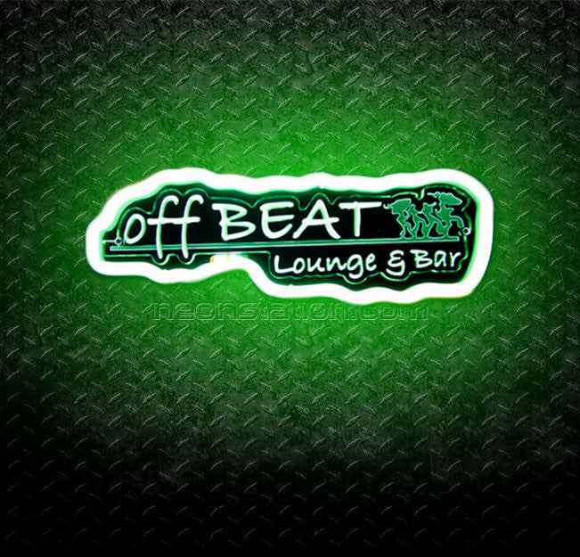 Off Beat Lounge & Bar 3D Neon Sign