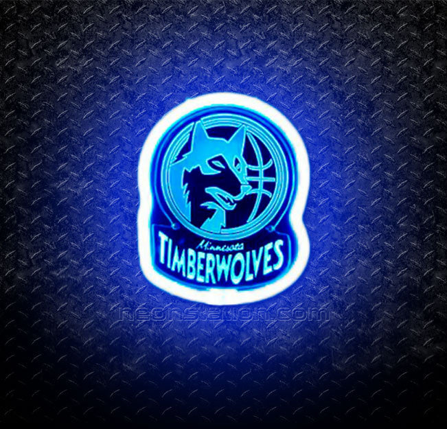 NBA Minnesota Timberwolves 3D Neon Sign
