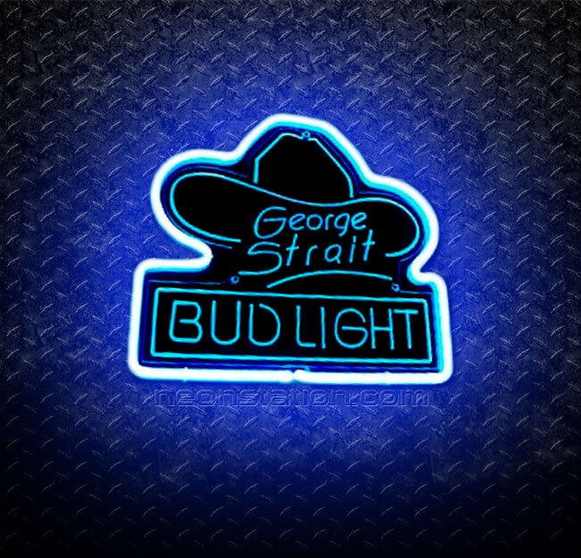 George Strait Bud Light 3D Neon Sign