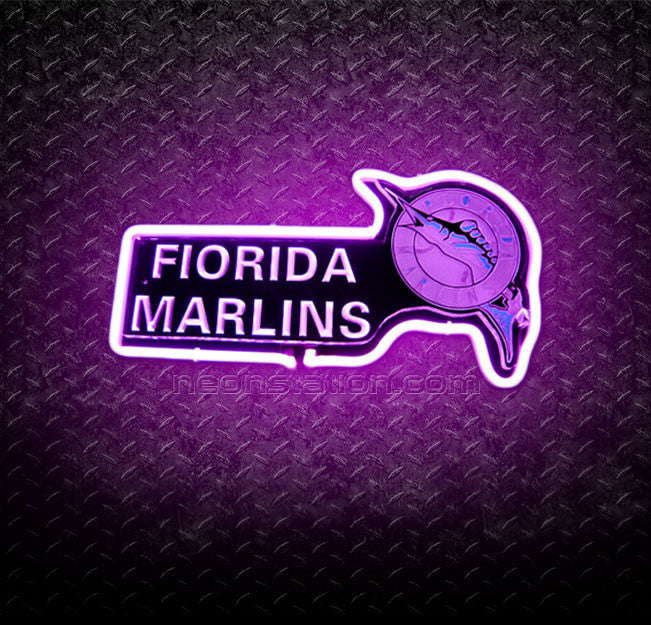 MLB Florida Marlins 3D Neon Sign