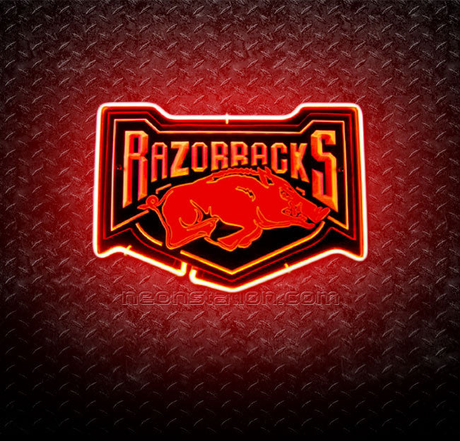 NCAA Arkansas Razorbacks 3D Neon Sign