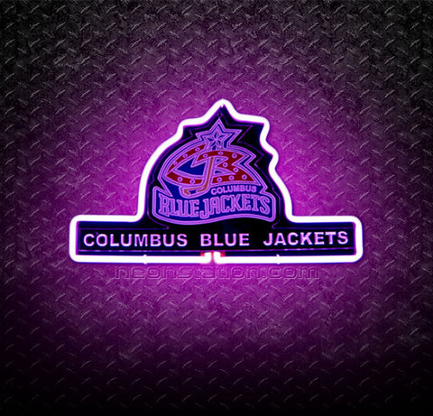NHL Columbus Blue Jackets 3D Neon Sign