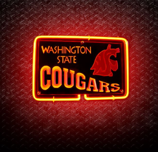 NCAA Washington State Cougars 3D Neon Sign