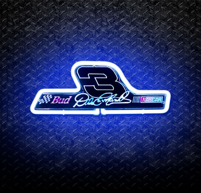 Nascar 3 Dale Earnhardt 3D Neon Sign