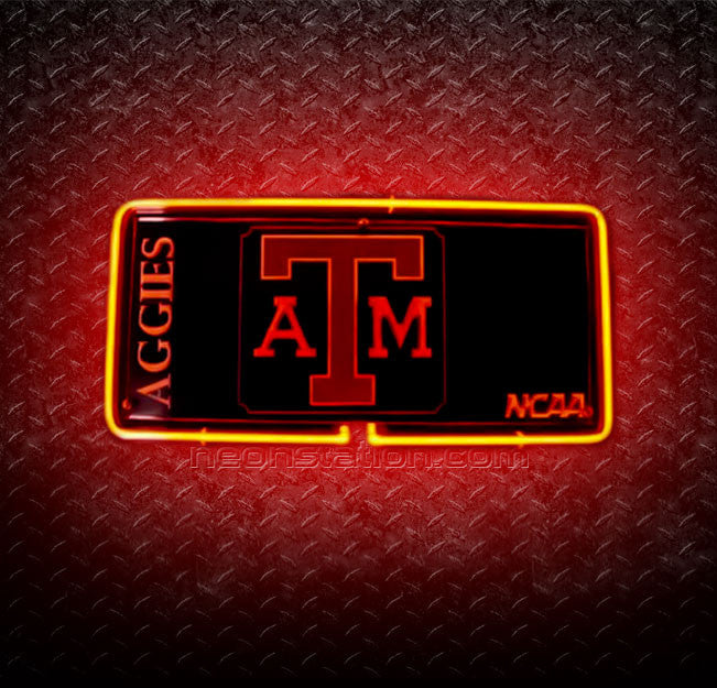 NCAA Texas A And M Aggies 3D Neon Sign