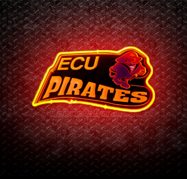 East Carolina University ECU Pirates 3D Neon Sign