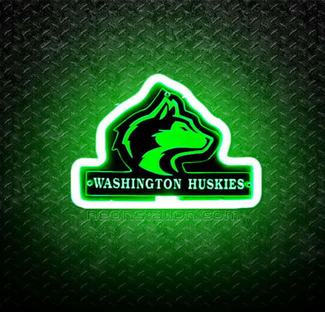 NCAA Washington Huskies 3D Neon Sign