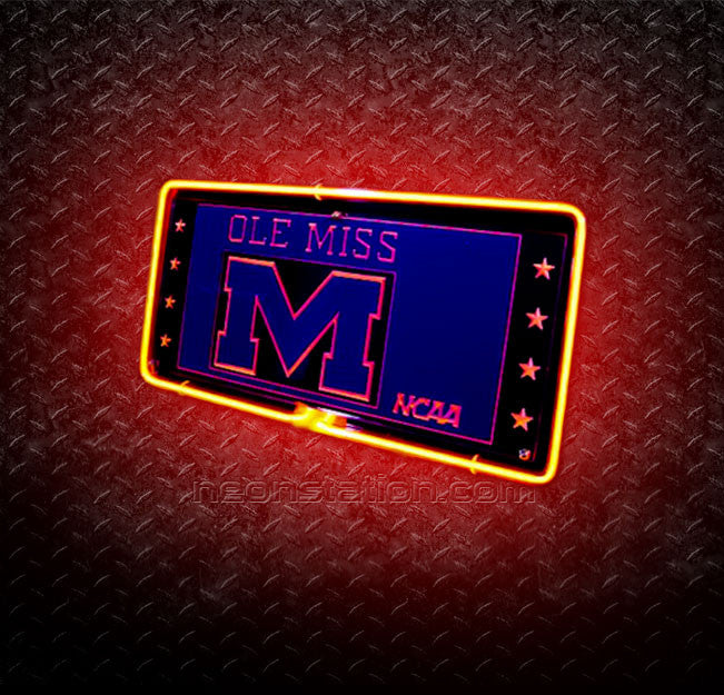 NCAA Ole Miss Michigan 3D Neon Sign