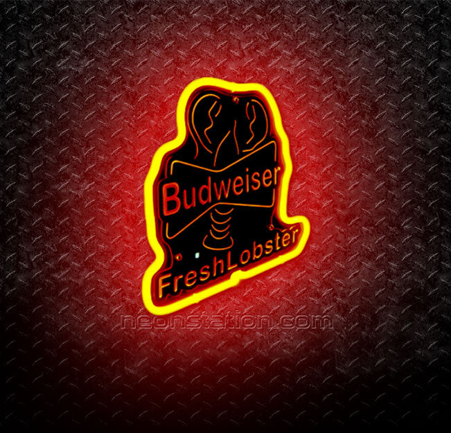 Budweiser Fresh Lobster 3D Neon Sign