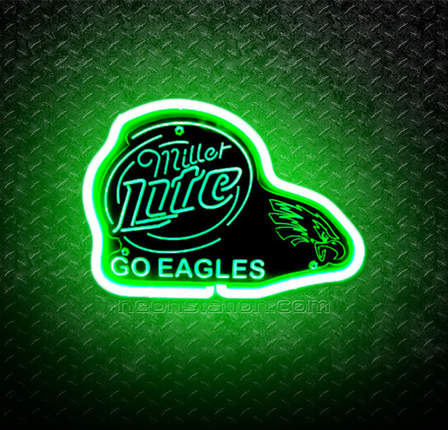 NFL Philadelphia Go Eagles Miller Lite 3D Neon Sign