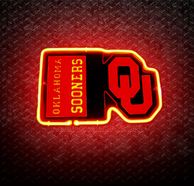 NCAA Oklahoma Sooners OU 3D Neon Sign