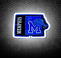 NCAA Memphis Tigers 3D Neon Sign