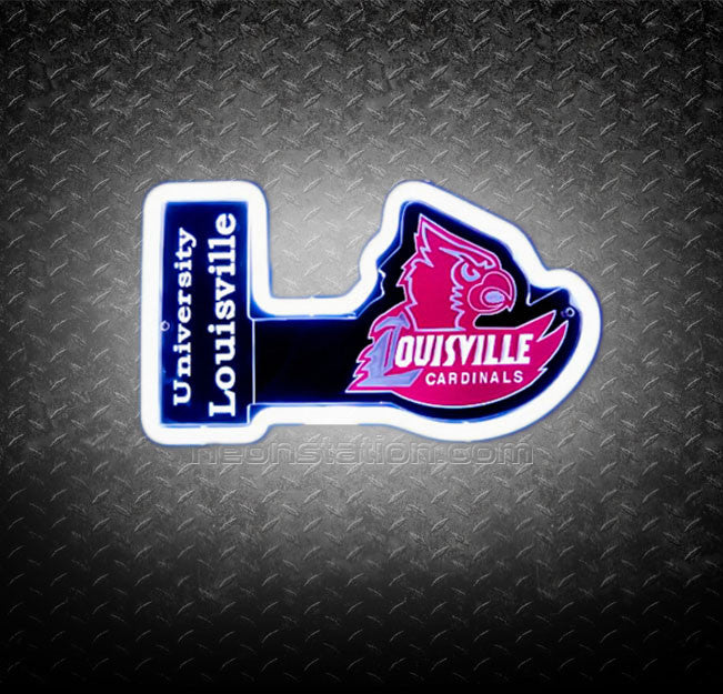 NCAA University of Louisville Cardinal 3D Neon Sign