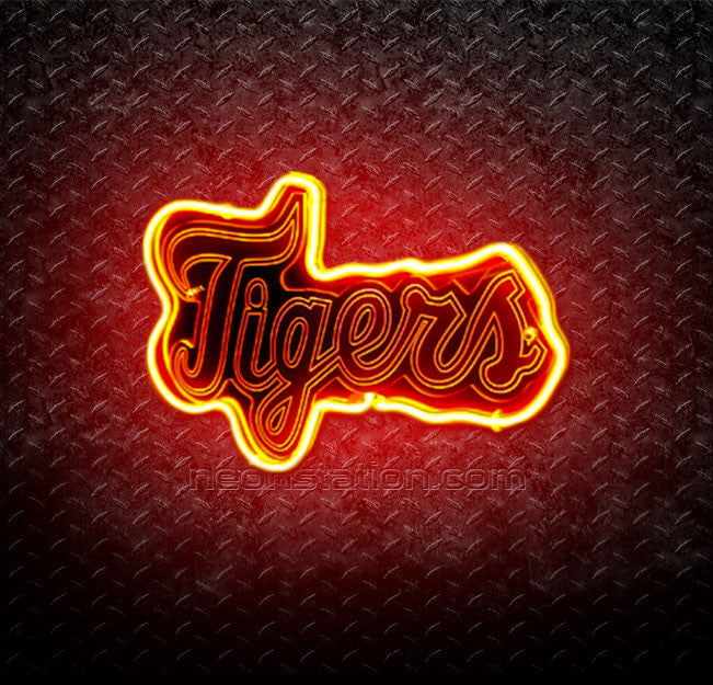 MLB Detroit Tigers 3D Neon Sign
