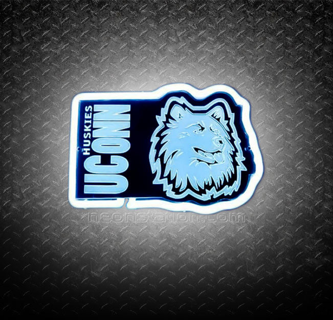 NCAA Connecticut Uconn Huskies 3D Neon Sign