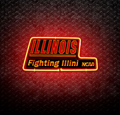 NCAA Illinois Fighting Illini 3D Neon Sign