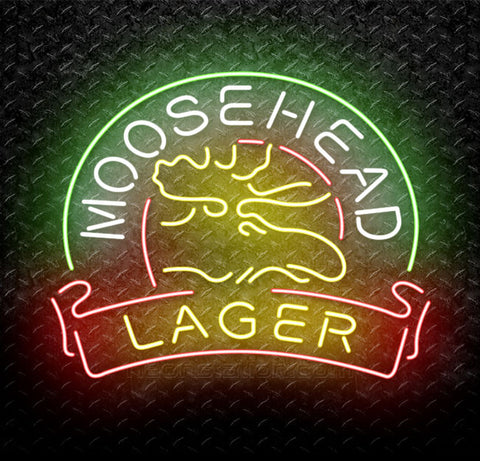 Moosehead Lager Beer Neon Sign