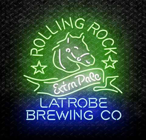 Rolling Rock Extra Pale Latrobe Co Neon Sign