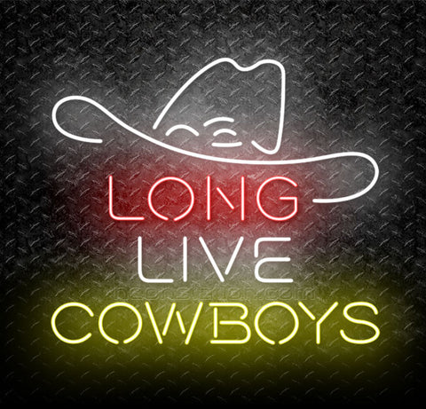 Long Live Cowboys Neon Sign