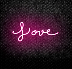 Cursive Love Neon Sign